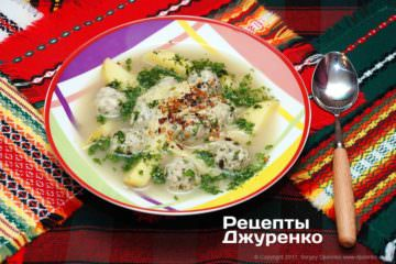 суп зфрикадельками