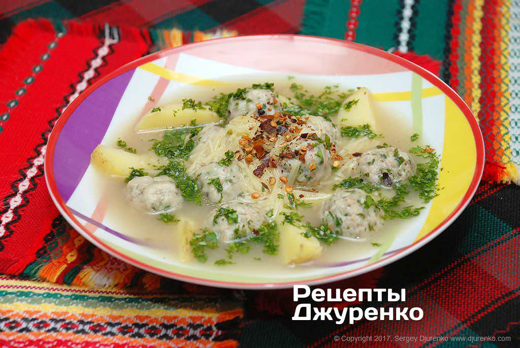суп с фрикадельками фото рецепта