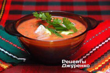 Фото рецепта суп гаспачо