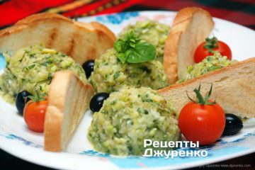Фото рецепта кабачки з часником