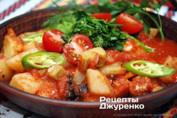 Фото рецепта рагу з овочів