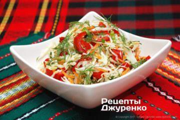 Фото рецепта витаминный салат с заправкой