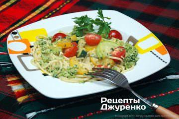 спагетті з овочами