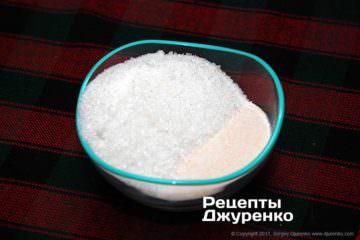 смешать пектин и сахар