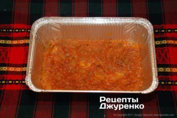 налить соус в форму