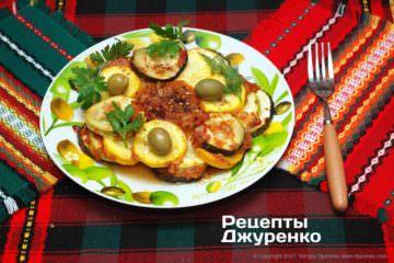 Фото рецепта запечені кабачки