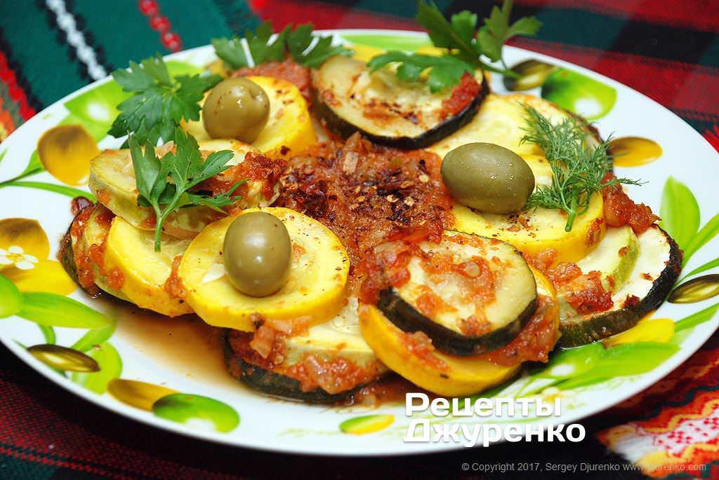 Фото готового рецепту запечені кабачки в домашніх умовах