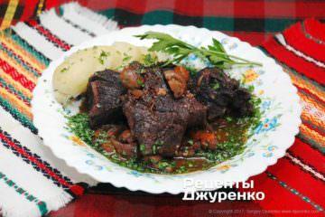 Фото рецепта яловичина з грибами