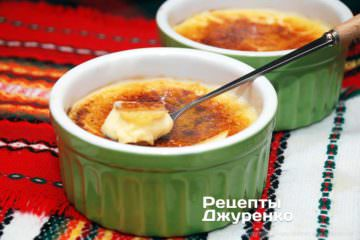 Фото рецепта десерт крем-брюле