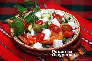 Фото к рецепту: салат с брынзой