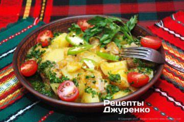 свинина з овочами
