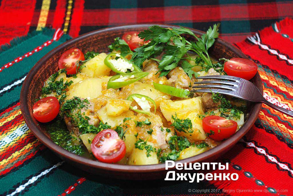 свинина тушкована з овочами фото рецепту