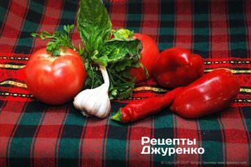 овочі для начинки і соусу