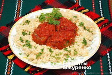 котлети в томатному соусі