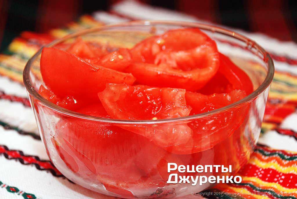 Шаг 5: мякоть томатов