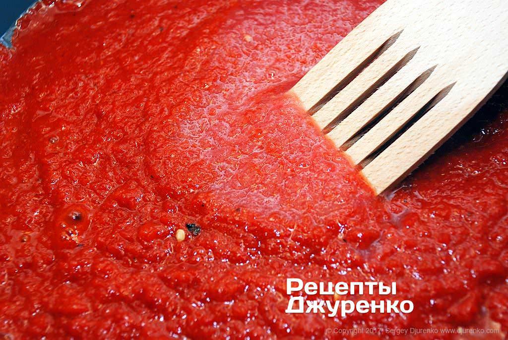 Шаг 8: пюре из перца и томатов