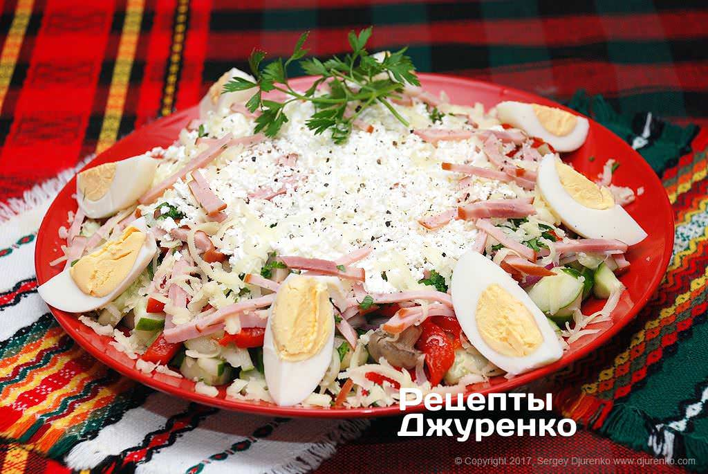 Фото готового рецепта овчарский салат в домашних условиях