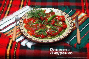 Фото рецепта салат изболгарского перца