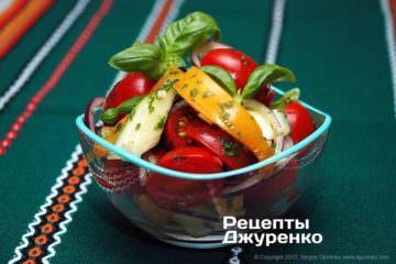 Фото до рецепту: салат з помідорів