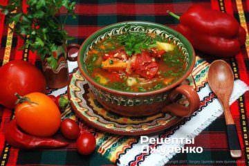 суп з болгарським перцем