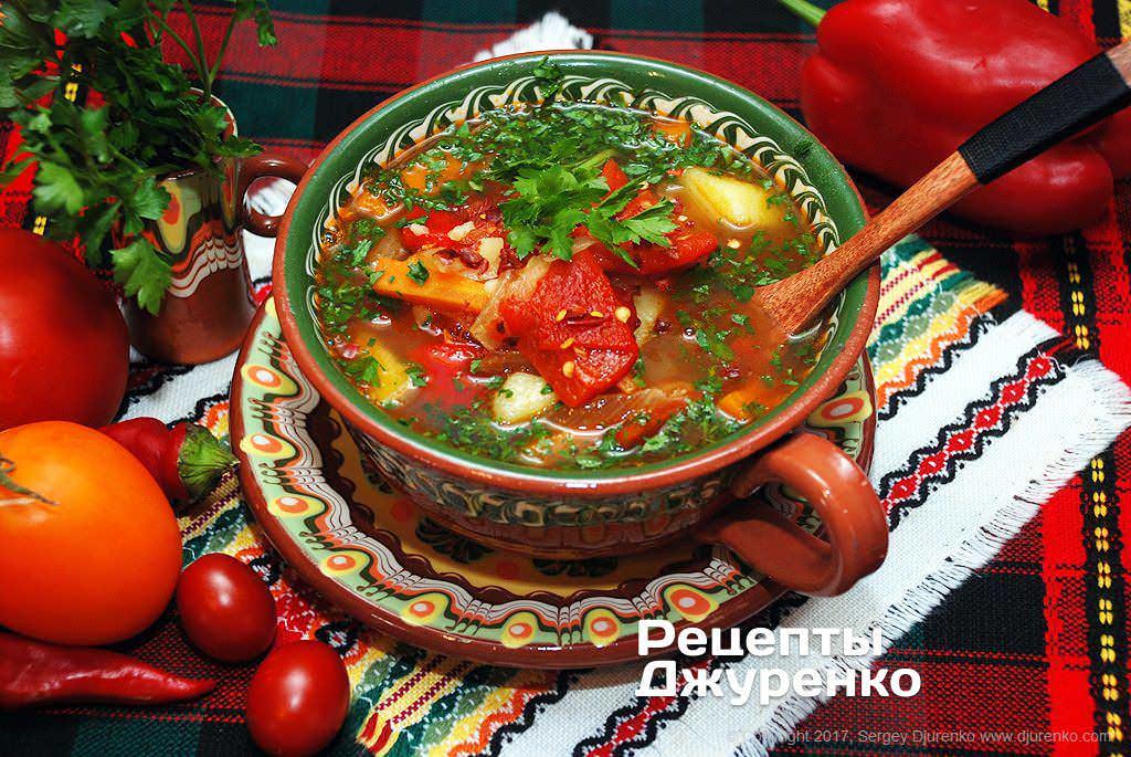 суп з болгарським перцем фото рецепту