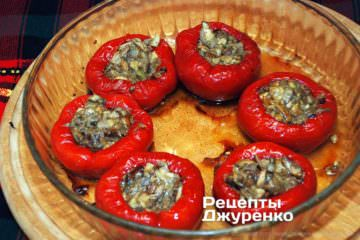 перец с грибами