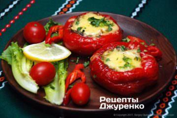 Фото до рецепту: запечені перці