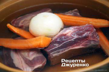 покласти м'ясо в холодну воду