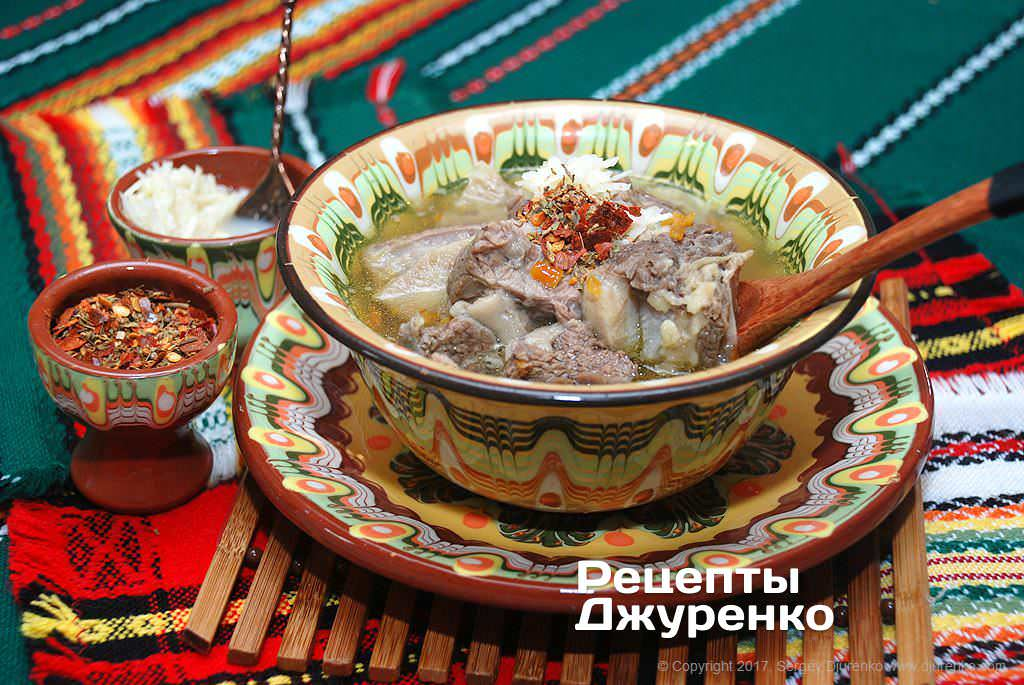 Фото готового рецепту м'ясний суп в домашніх умовах
