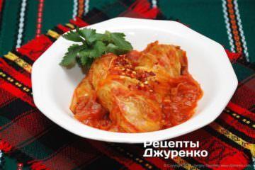 Фото рецепта овощные голубцы без мяса