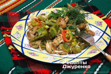 Фото рецепта салат з печеного перцю