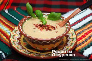 Фото рецепта суп з баклажанів