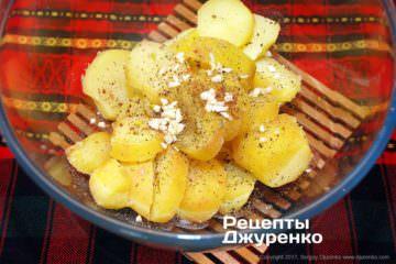картопля з часником
