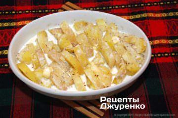 картопля в вершках