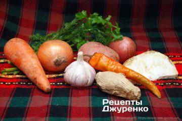 овочі для бульйону