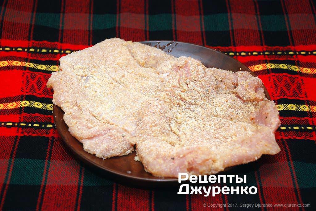 Шаг 3: филе в панировке