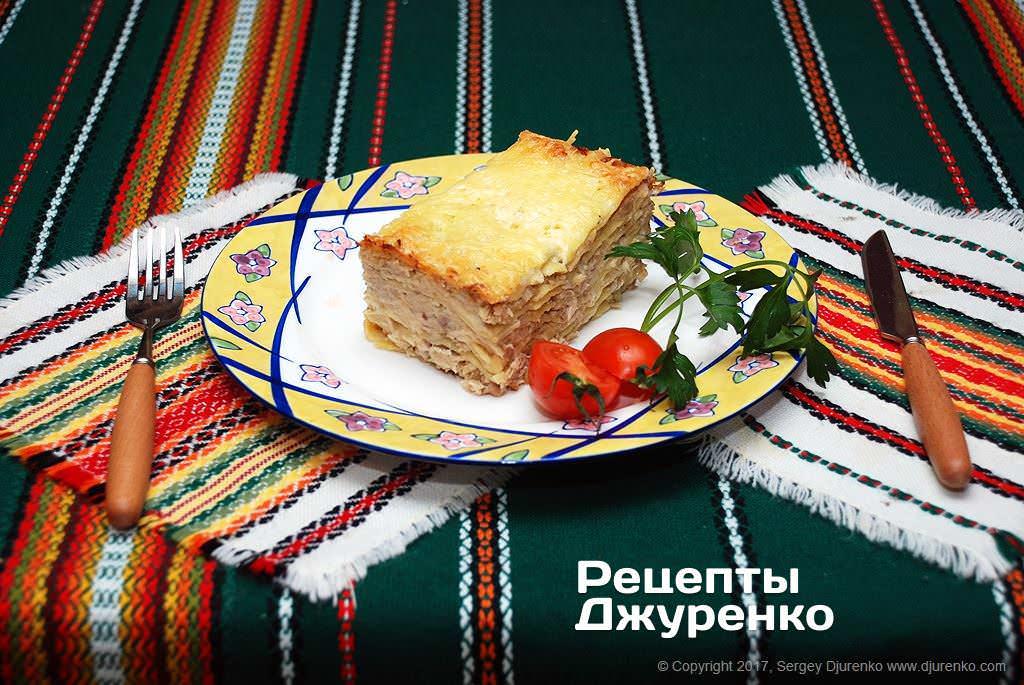 Фото готового рецепту лазанья з куркою в домашніх умовах