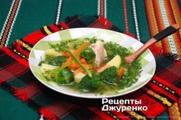 Фото рецепта суп з капустою