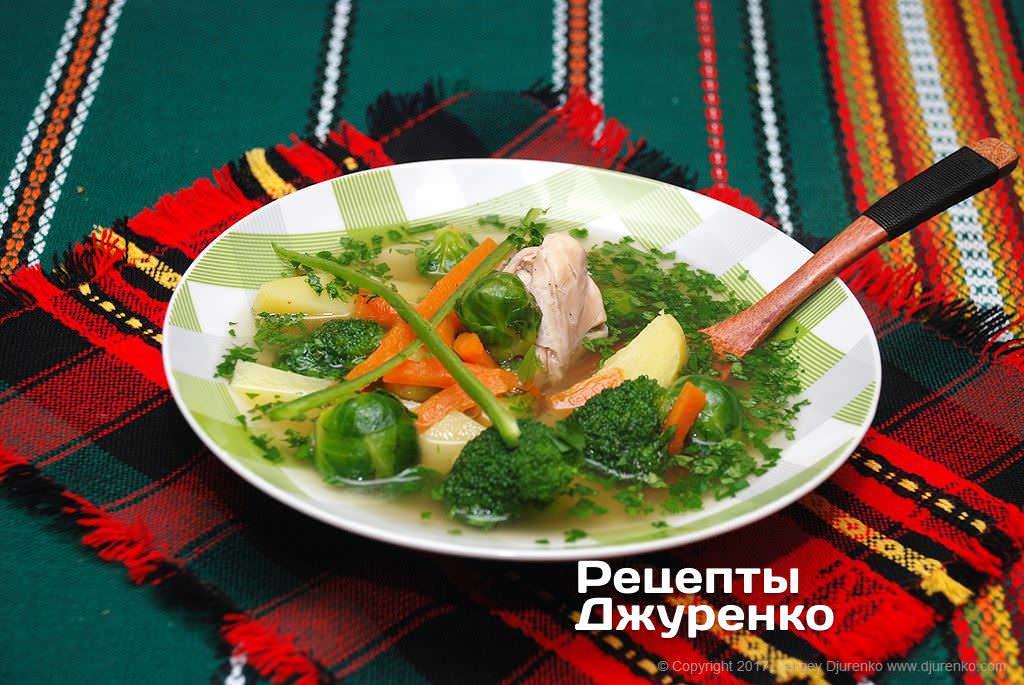 Фото готового рецепта суп с капустой в домашних условиях