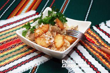 Фото рецепта свинина з ананасами