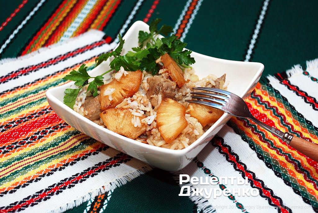 свинина с ананасом фото рецепта
