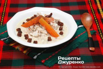 Фото рецепта курячий крем-суп