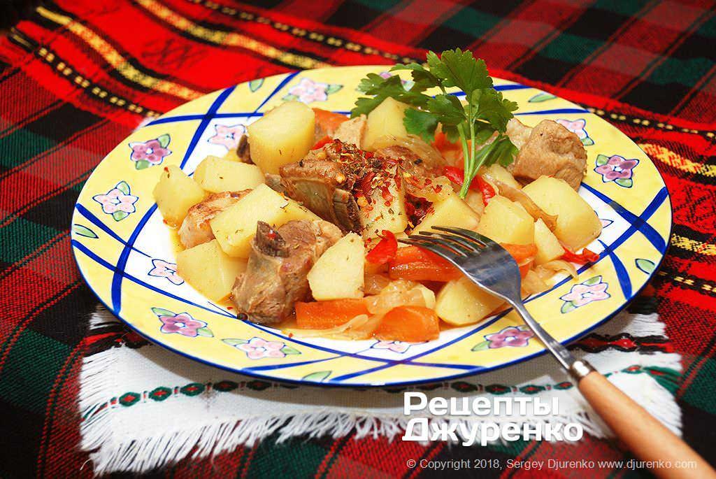 свинячі ребра з картоплею фото рецепту