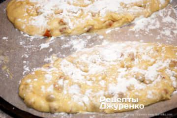 Как приготовить Кантуччи — миндальное печенье. Шаг 20: сформированные батоны из теста