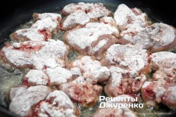 Шаг 8: печень в муке
