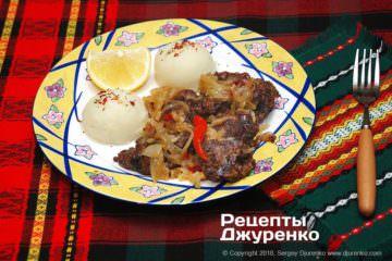 Фото рецепта куриная печень с луком