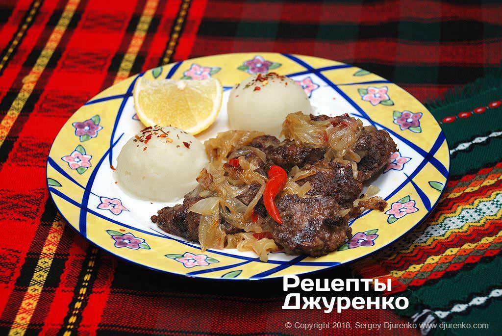 куриная печень с луком фото рецепта