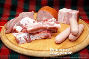 Шаг 1: мясо для солянки