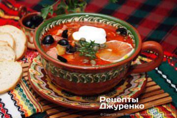 Фото к рецепту: мясная солянка