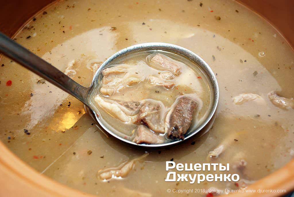 Готовый суп.